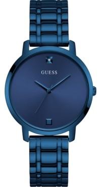 GUESS Women's Diamond-Accent Blue Stainless Steel Bracelet Watch 40mm