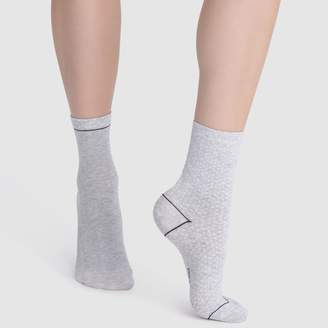 Dim Pack of 2 Pairs of Dotted Cotton Socks