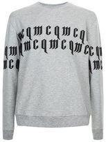 Mcq Alexander Mcqueen Gothic Logo Crew Neck Jumper