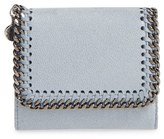 Stella McCartney Women's 'Small Falabella' Faux Leather French Wallet - Blue
