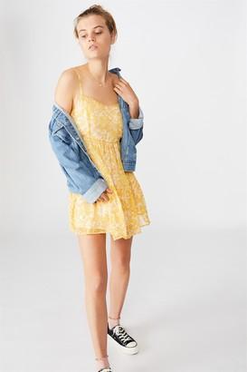 Cotton On Woven Jordy Ruffle Mini Dress