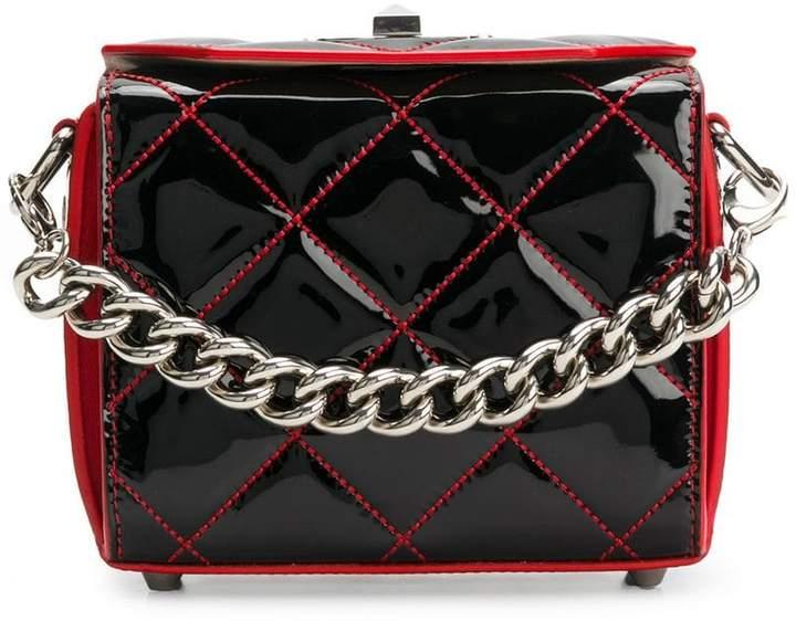 Alexander McQueen quilted box cross body bag