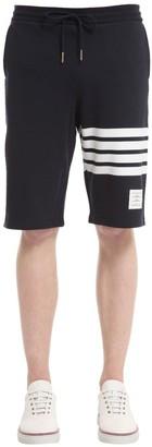 Thom Browne Intarsia Stripes Cotton Jersey Shorts