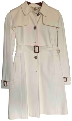 Celine White Cotton Trench coats