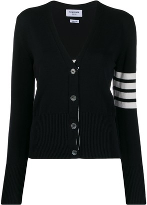 Thom Browne 4-Bar striped cardigan