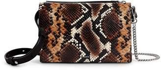 AllSaints Fetch Snake-Print Chain Wallet