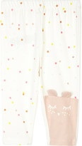 Billieblush Billie Blush Cat face and dots cotton-blend leggings 6-36 months