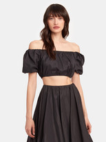 STAUD Ant Puff Sleeve Crop Top