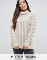 Club L Plus Knit Cable Sweater