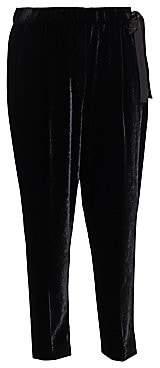Brunello Cucinelli Women's Velvet Side-Tie Pants