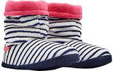 Joules Stripe Print Slipper Socks, French Navy/Multi