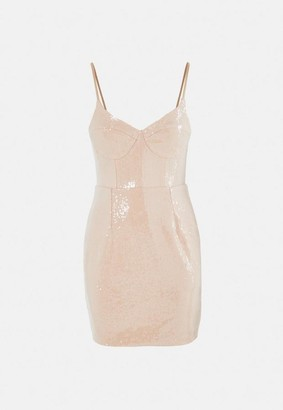 Missguided Sequin Bust Cup Cami Mini Dress