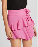 Express high waisted ruffle mini skirt