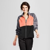 Mossimo Women's Zip Up Jacket Black/Gray/Coral