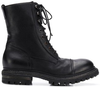 Del Carlo Lace-Up Ankle Boots