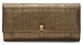 Alexander McQueen Women's Calfskin Leather Wallet On A Chain - Metallic