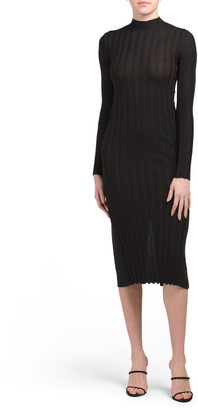 Mixed Rib Mock Neck Dress