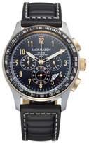 Jack Mason Racing Chronograph Leather Strap Watch, 46mm