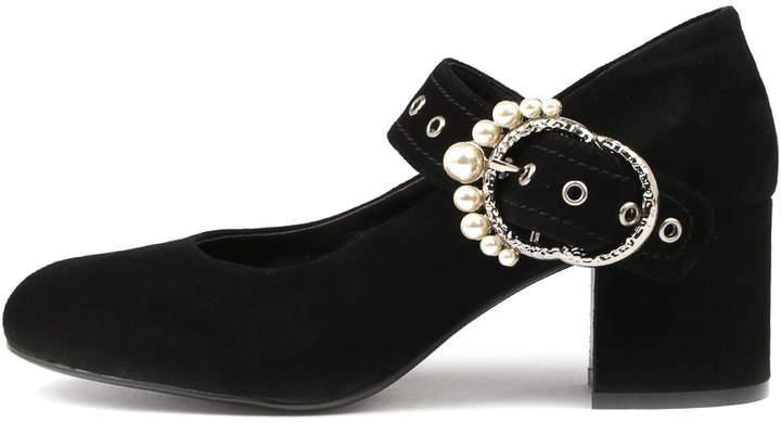Django & Juliette Nuncio Black Shoes Womens Shoes Dress Heeled Shoes