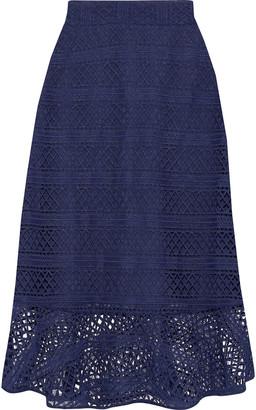 Raoul Macrame Lace Midi Skirt