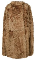 Yves Salomon Women's Beige Leather Coat.