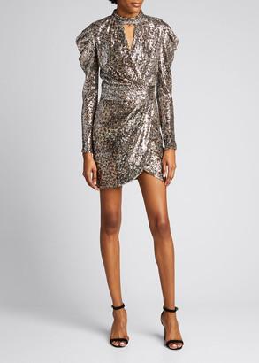 Jonathan Simkhai Mallory Metallic Animal-Print Cocktail Dress