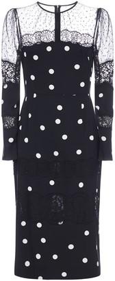 Dolce & Gabbana Lace Polka-dot Silk-blend Dress