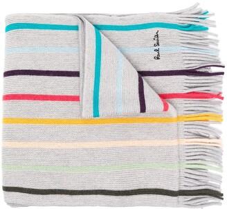 Paul Smith Striped Wool Knit Scarf
