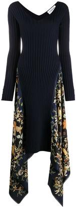 Lanvin Printed Asymmetric Dress