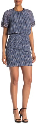 Reiss Heidi Diamond Print Dress