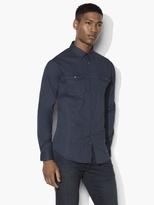 John Varvatos Abstract Military Shirt
