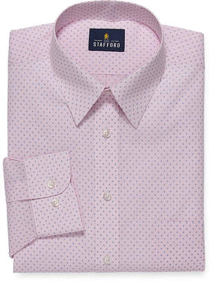 STAFFORD Stafford Mens Point Collar Long Sleeve Wrinkle Free Stretch Stain Resistant Dress Shirt