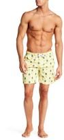 Franks Swim Pineapple Print Mid Length Swim Trunk