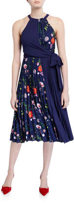 Ted Baker Hedgerow Floral Pleated Halter Dress