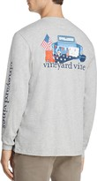 Vineyard Vines Crewneck Long Sleeve Americana Game Day Tee