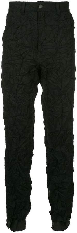 Facetasm x Woolmark crumpled effect trousers