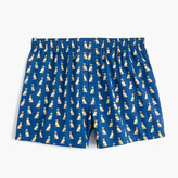 J.Crew Golden Retriever print boxers