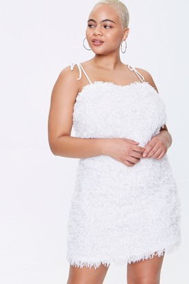 Forever 21 Plus Size Feathered Cami Mini Dress