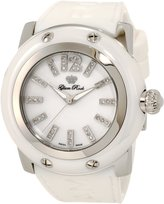 Glam Rock Women's Accented Dial White Silicone Watch GLAMROCK-GRD30018-RB