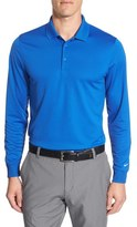 Nike 'Victory' Long Sleeve Dri-FIT Golf Polo