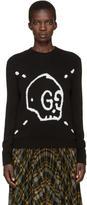 Gucci Black GucciGhost Knit Sweater