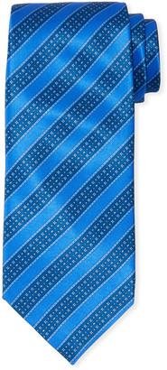 Stefano Ricci Men's Large Stripe Silk Tie