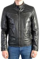 Redskins Leather Jacket Leeron Casting Black Noir