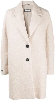 Peserico Single-Breasted Textured Coat