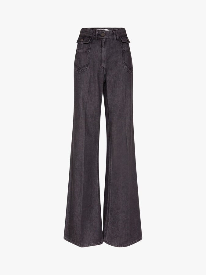 Thumbnail for your product : Gerard Darel Manon High-Waisted Wide Leg Jeans, Grey