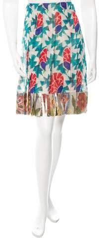Chanel Paris-Dubai Metallic Silk Skirt w/ Tags