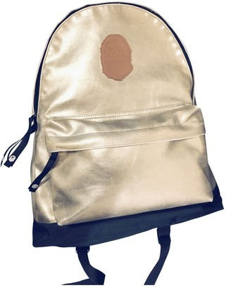 A Bathing Ape Gold Polyester Backpacks