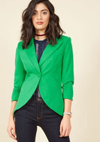 ModCloth Fine and Sandy Blazer in Grass in S