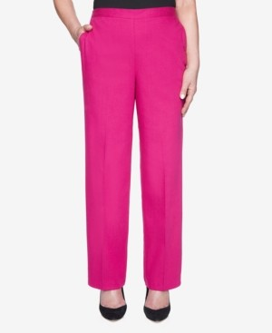 Alfred Dunner Pull On Back Elastic Colored Denim Proportion Pant