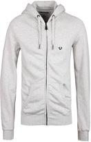 True Religion Metallic Horseshoe Heather Grey Hooded Sweatshirt